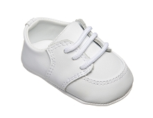 Baby Deer White Leather Infant Boy's Dress Shoes Oxford