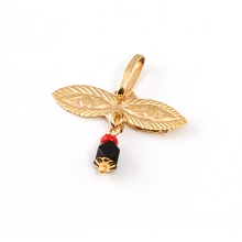 Truben Gold 14K Pendant Eyes with Azabache