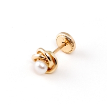 Truben Gold 14K Earring with Pearl