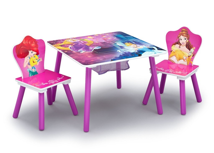 Swell Delta Children Disney Princess Table And Chair Set With Storage Caraccident5 Cool Chair Designs And Ideas Caraccident5Info