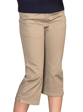 Universal 50% Off School Uniform Capri Pants Girl-Khaki