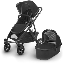 Uppababy 2018 Vista Stroller Henry Jake (Black/Carbon/Black Leather)