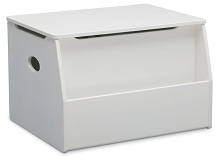 Delta Children Nolan Toy Box in Bianca White
