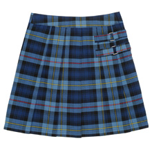 French Toast 50% Off School Uniform Plaid Two-Tab Skort, Girl, Blue-Red