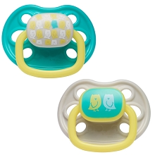 First Years 2-Pack Newborn Ortho Pacifier 6-18 Months-Neutral Animal Design