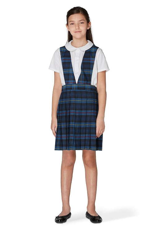 6d9151c6d French Toast 50% Off School Uniform Girl Jumper V-Neck Plaid, Navy. Tap to  expand