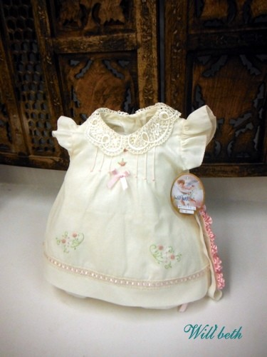 Will'beth Baby Dress Ivory-Pink