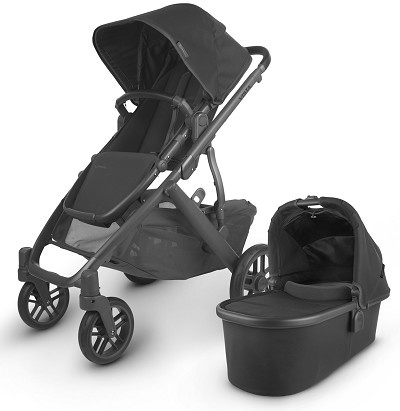 Uppababy 2020 Vista V2 Stroller Jake (Charcoal/Carbon/Black Leather)