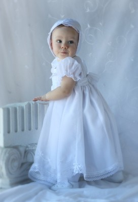 Will'beth Christening Dress with Bonnet