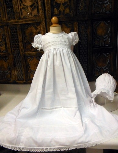 Will'beth Crochet Lace Detail Christening Gown