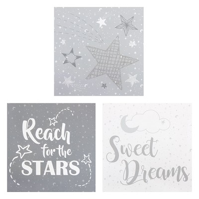 Trend Lab Moon and Stars Wall Art 3 Pieces