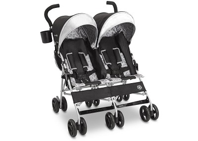 J is for Jeep® Brand Scout Double Stroller, Charcoal Galaxy