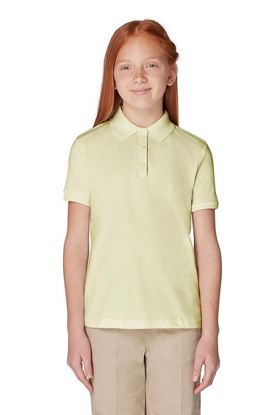 French Toast 50% Off School Uniform Girl Polo, Yellow
