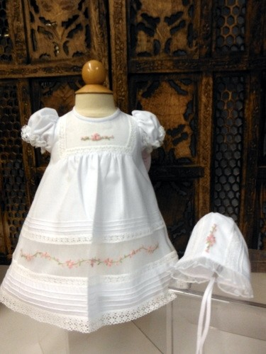 Will'beth Baby Gown\ with Bonnet