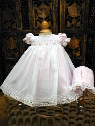 Will'beth Smocked Dress Sweet Pink-White