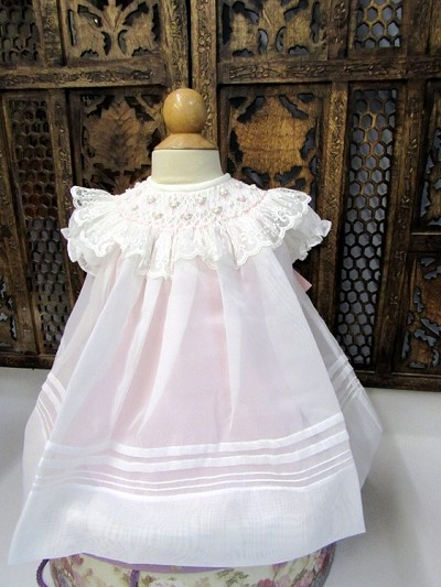 Willbeth Smocked Dress Ivory-Pink