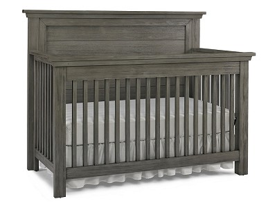 Dolce Babi Lucca Flat Top Convertible Crib Weathered Grey