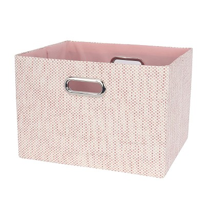 Lambs & Ivy Foldable Storage Container Pink