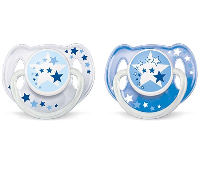 Avent Nighttime Orthodontic Pacifier 6-18m BPA Free, 2 Pack