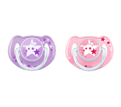 Avent Nighttime Pacifier Glow In the Dark Purple 6-18 Months, 2 Pack