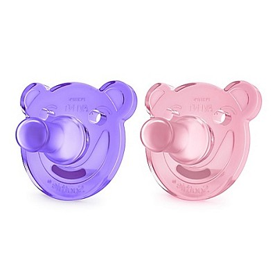 Avent Soothie Shape Pacifier Pink-Purple, 2 Pack