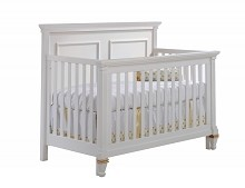Natart Juvenile Belmont 5-in-1 Convertible Crib White-Gold