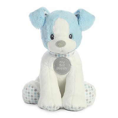 Aurora First Puppy Polka Dot Blue 13in