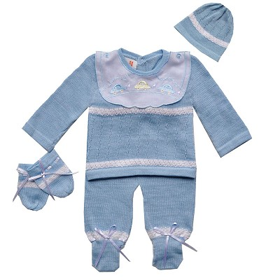 Karela Kids Knitted Set with Cap, Mittens