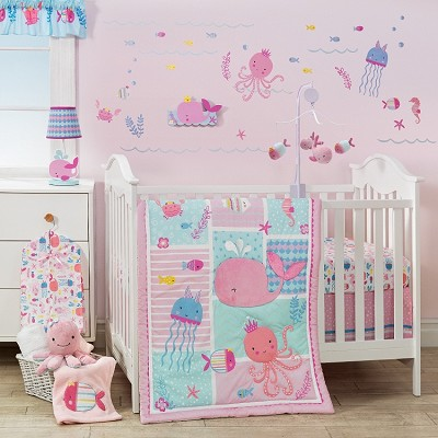 Lambs & Ivy Sugar Reef Bedding Crib Set 8-Pieces