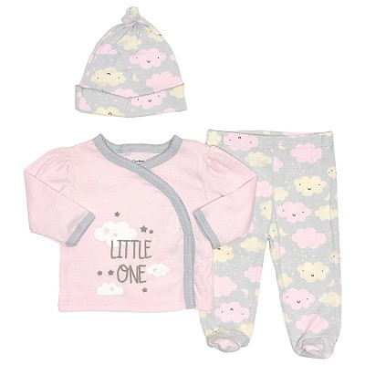 Gerber little One 3 Pieces Pant Set, Girl Newborn