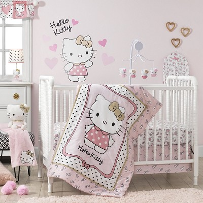 Bedtime Original Hello Kitty Luv Bedding Crib Set  3-Pieces