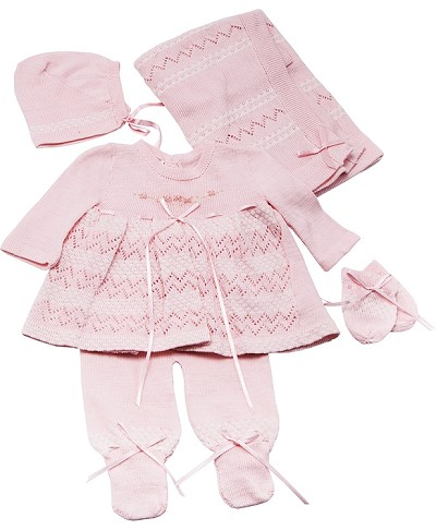 Karela Knitted Girl Pant Set , Newborn