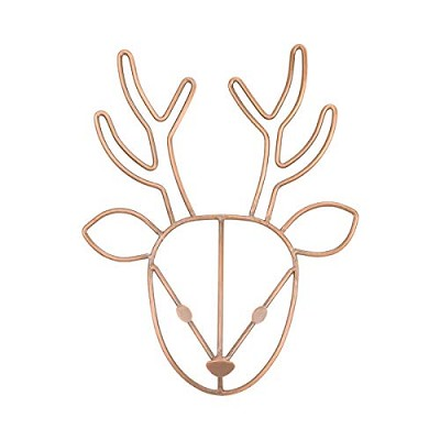 Nojo Deer Wire Art with Copper Finish