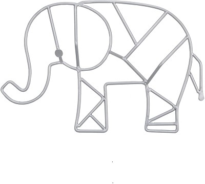 Nojo Elephant Wire Art with Grey Finish