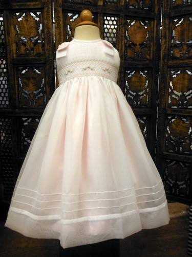 Willbeth Smocked Dress White-Pink