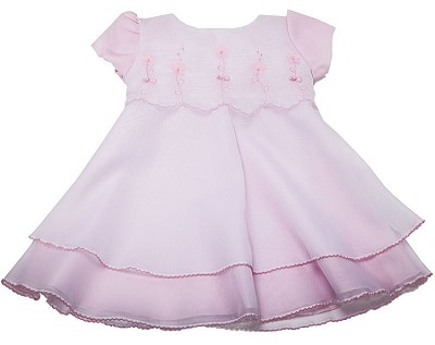 Karela Kids Organza Dress with Applique and Pearls