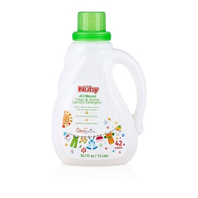 Nuby All Natural Clean and Gentle Laundry Detergent with Citroganix 1.5 Liter