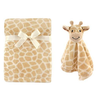 Hudson Baby Plush Blanket and Security Blanket, 2-Piece Set, Giraffe
