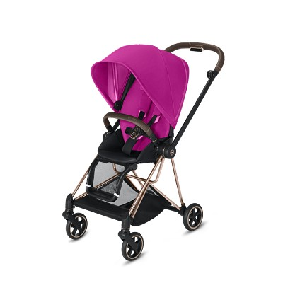 Cybex Mios 2 Stroller Rose Gold Frame with Premium Fancy Pink Seat