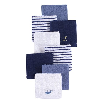 Hudson Baby 8 Pack Woven Terry Washcloths, Archor