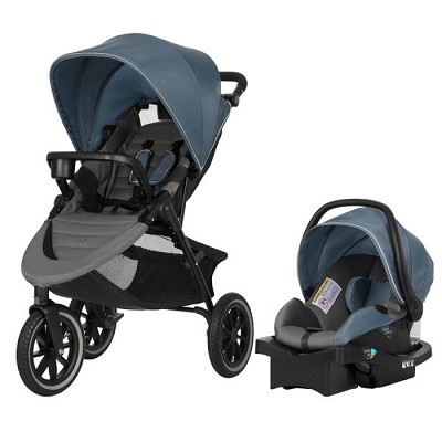 Evenflo Folio3 Stroll & Jog Travel System with LiteMax 35 Infant Car Seat Skyline