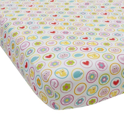 Lambs & Ivy Happi Tree by Dena™ Multicolor Animals and Floral Fitted Crib Sheet