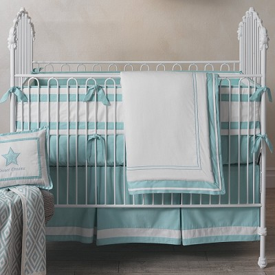 Lambs & Ivy Classic Aqua Bedding Crib Set 3-Pieces