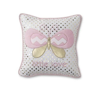 Tender Kisses Butterfly Decorative Pillow