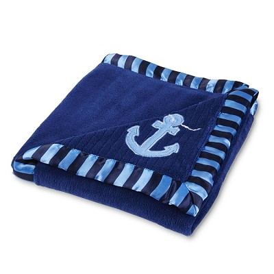 Tender Kisses Nautical Plush BLanket