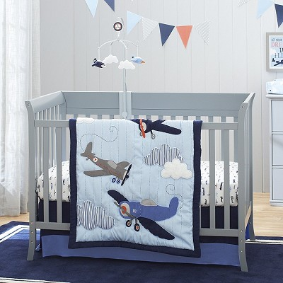 Crown Craft Carter's Take Flight Bedding Crib Set 4 Pieces