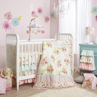 Lambs & Ivy Sweet Spring Bedding Crib Set 4-Pieces