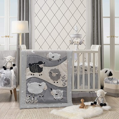 Lambs & Ivy Little Sheep Bedding Crib Set 4 Pieces