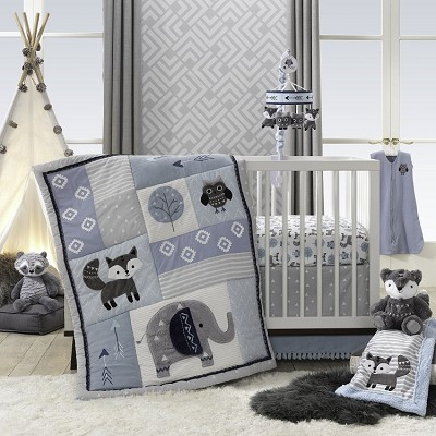 Lambs & Ivy Stay Wild 4-Pieces Bedding Crib Set