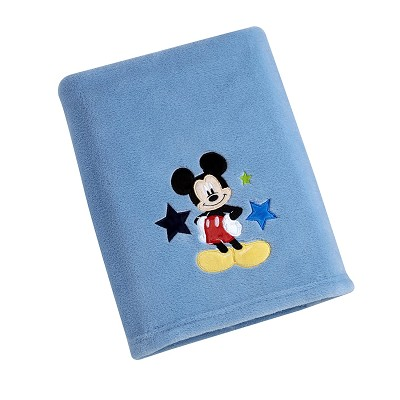 Disney Baby Mickey Mouse Solid Coral Applique Blanket